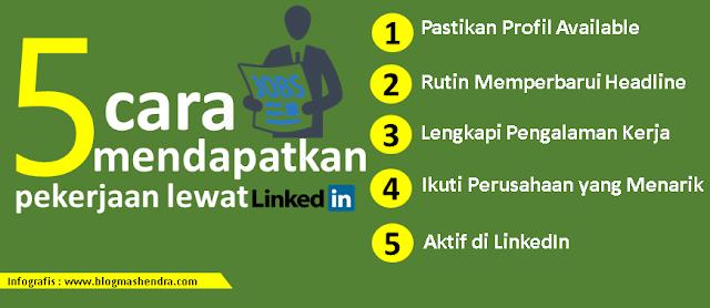 5 Cara Sederhana Agar Mendapat Pekerjaan Lewat LinkedIn - Blog Mas Hendra