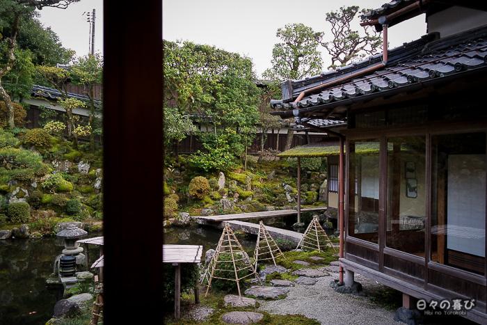 Jardin et yuki-tsuri, maison Ishitani, Chizu, Tottori