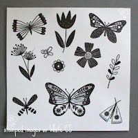 stamped images on White cs