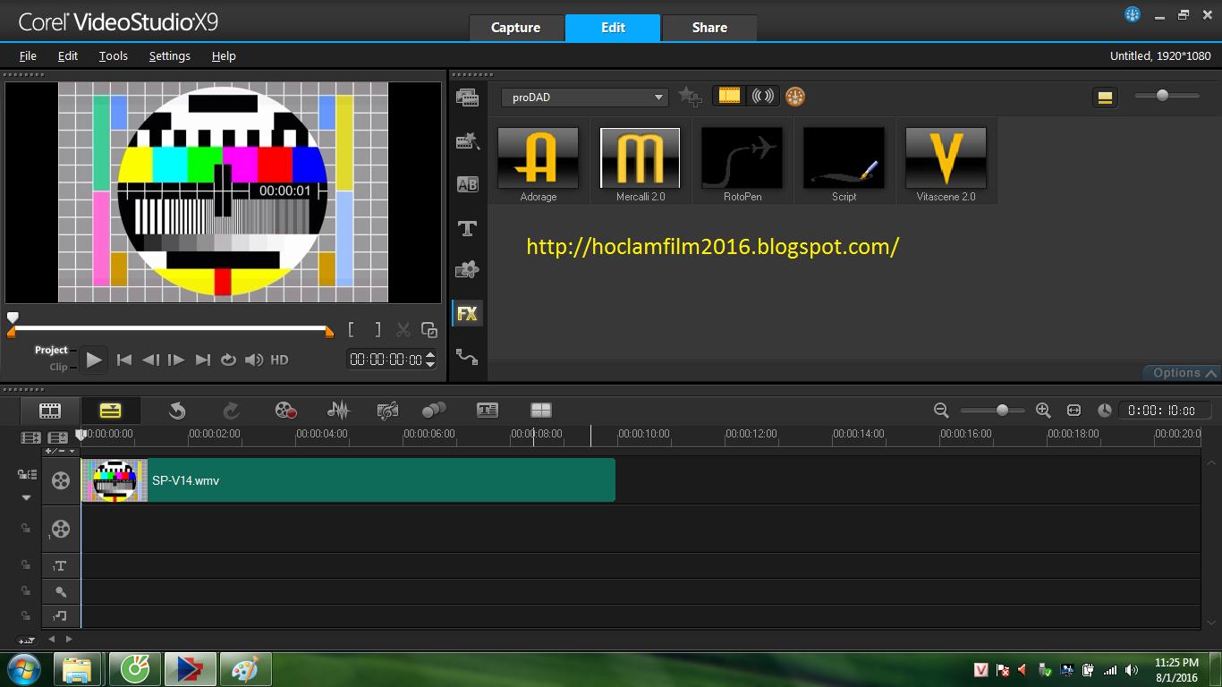 Hoclamfilm: Corel VideoStudio Ultimate X9 5 Full + Content