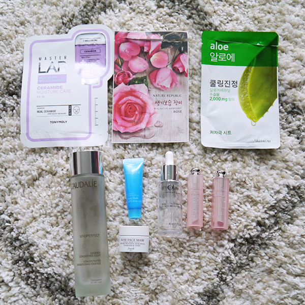 Round-up of empty beauty, skincare, hair and body care products for February 2019 featuring Caudalie, Olay, Dior, Laneige, Fresh, Aritaum, Nature Republic, Tonymoly