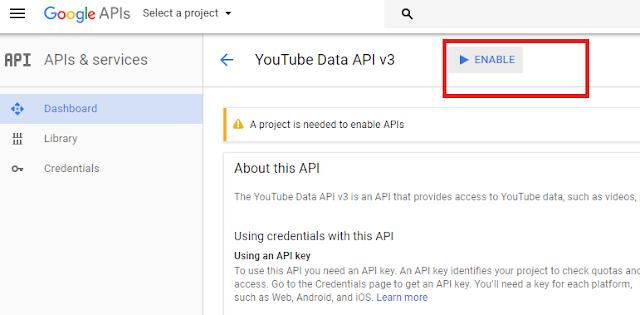 how to create an api for kodi youtube