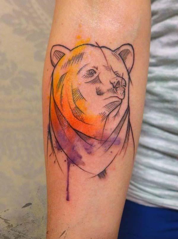 ayı çizimi dövme