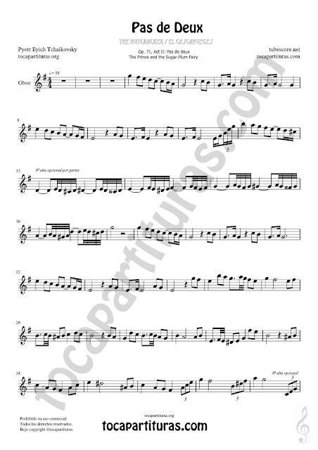 1 Oboe Partitura de Pas de Deux Sheet Music for Oboe Music Score PDF/MIDI de Oboe