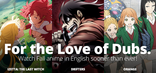 Anime Links: Funimation List of New Dubbed Series Now Posted