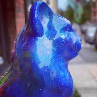 Cosmic Cat Sculpture in Catskill, New York