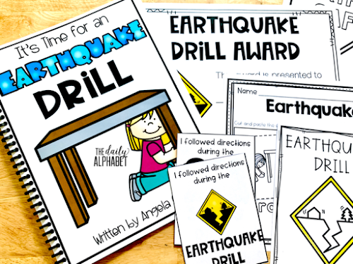 Earthquake safety drills and procedures are important skills to practice during the first few weeks of school. This pack contains easy to implement activities and read alouds to make it so much easier!
