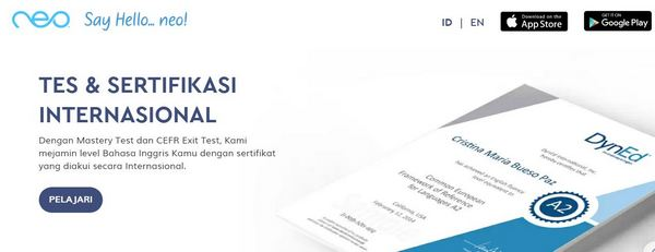 neo study bersertifikasi internasional