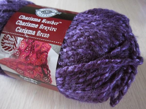 yarn, Loops & Threads Charisma, purple