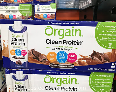 Get a clean source of protein by drinking Orgain Clean Protein Shakes