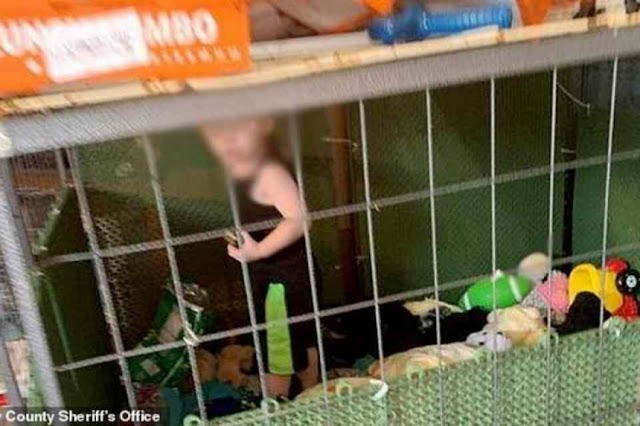 EUA: Bebê é encontrado em jaula com 600 animais ao redor e 127 pés de maconha