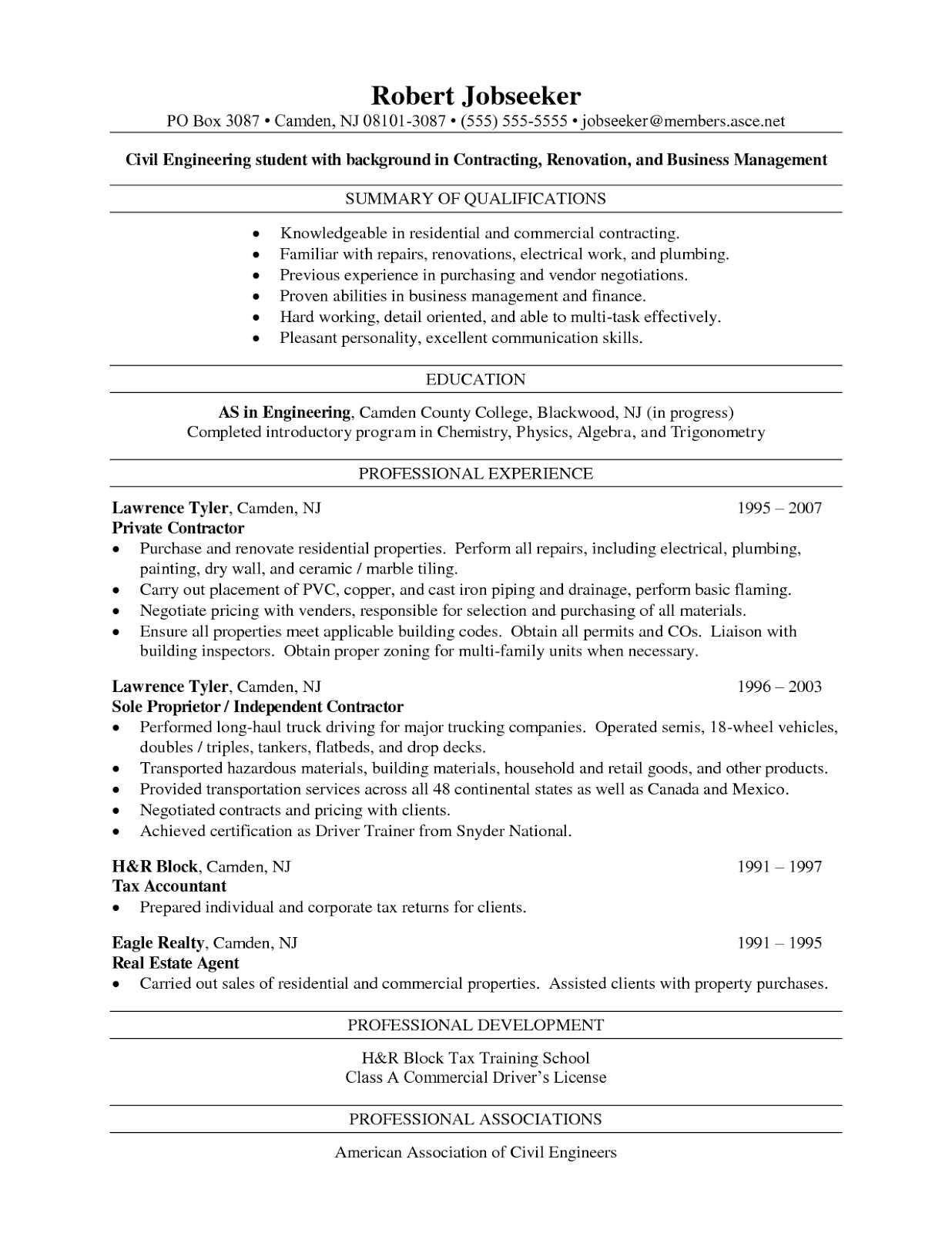 resume format for freshers engineers ece