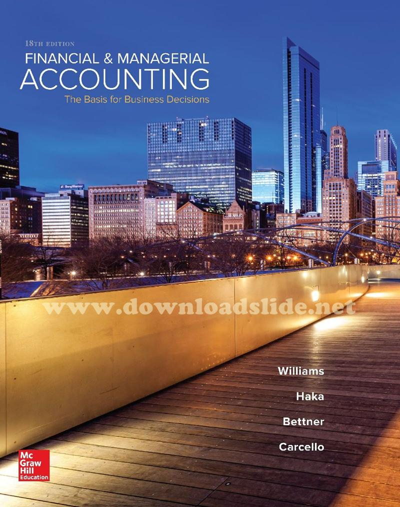 Solutions manual horngren ebook cost accounting horngren manual ebook array ebook financial u0026 managerial accounting 18th edition by williams rh downloadslide net fandeluxe Images