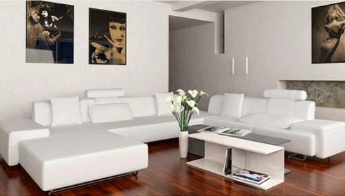 Sala moderna muebles blancos