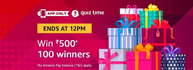 Amazon Quiz Time Daily – Today's Answer of Amazon 18th March Quiz