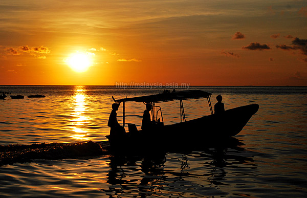 Sunset at Mabul Island, Sabah