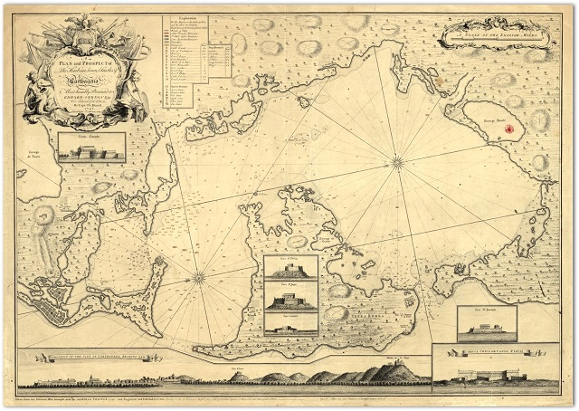 Plano de Cartagena de Indias Siglo XVII