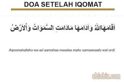doa setelah iqomat