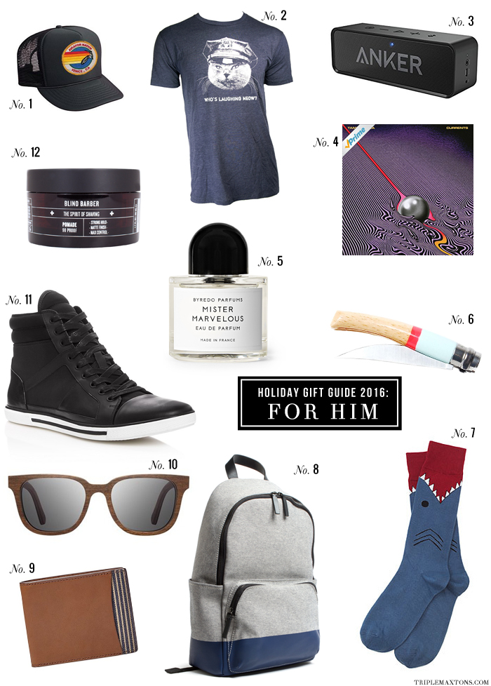 Dudes are notoriously tough to shop for, aren't they? So, I went ahead and did the grunt work so you don't have to ride the struggle bus this holiday season looking for the perfect gift for the special guys in your life. Have to say, I'm pretty stoked about this gift guide for the gents this year!