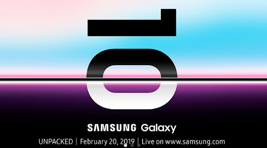 Samsung Galaxy S10 launch date confirmed for February 20