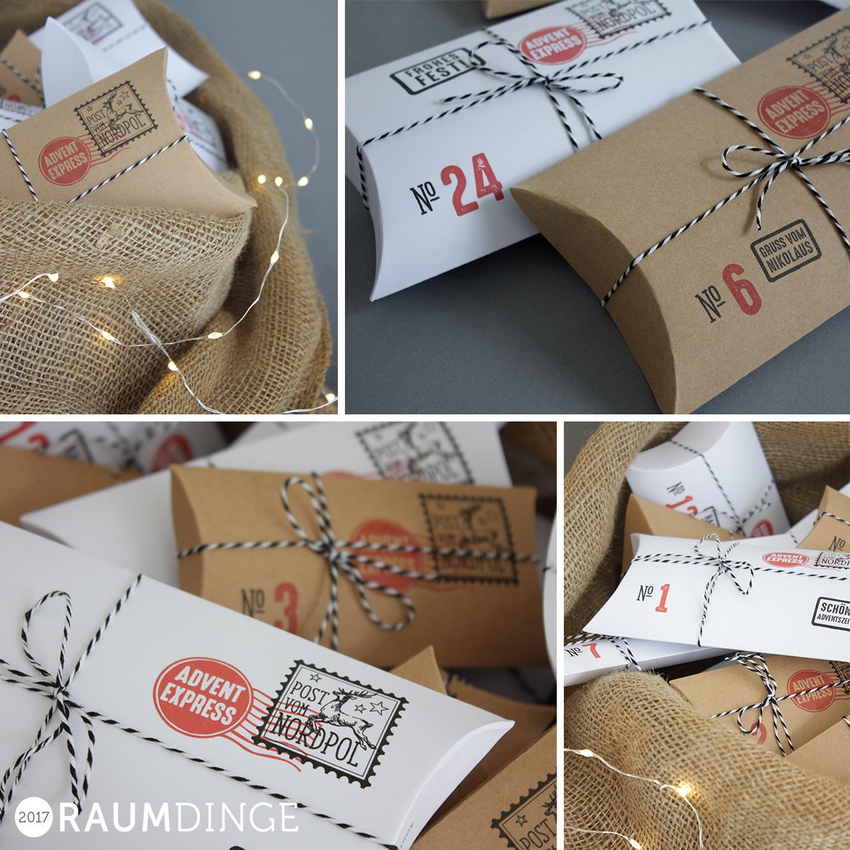 Adventskalender-Schachteln zum Selbermachen, DIY