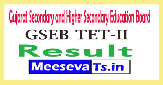 Gujarat TET 2 Result 2017