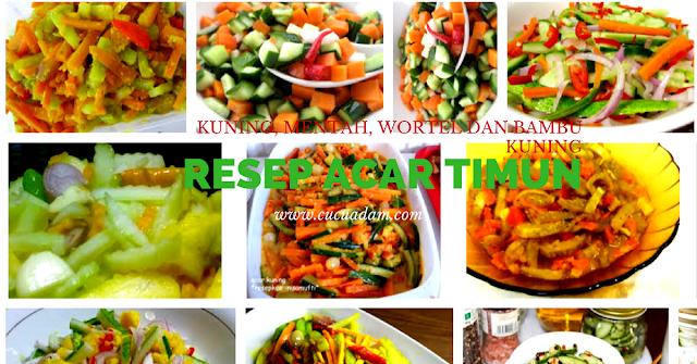 Resep Acar Timun Kuning, Mentah, Wortel dan Bambu Kuning