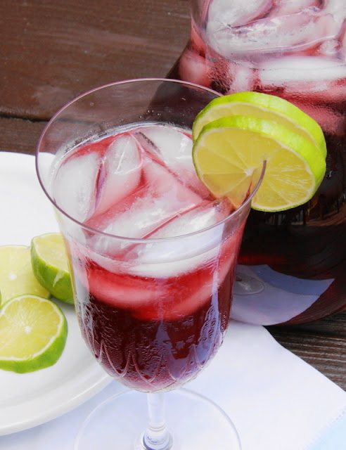Blueberry-Lime Iced Tea