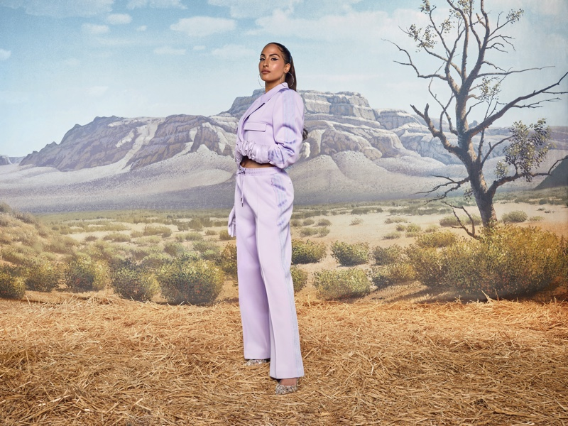 Singer Snoh Aalegra poses for adidas x Ivy Park Rodeo campaign.