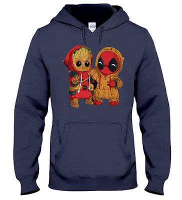 Deadpool and Baby Groot T Shirt Hoodie Sweatshirt Sweater