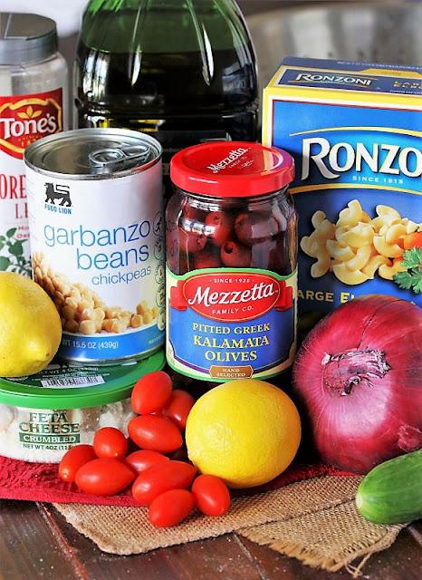Greek Macaroni Salad Ingredients Image
