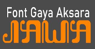 font gaya aksara jawa