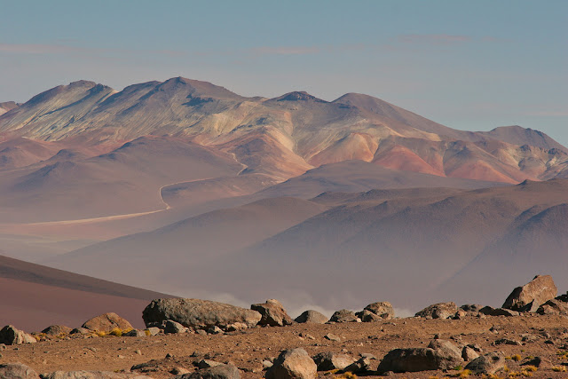 Montanhas do deserto de Atacama no Chile