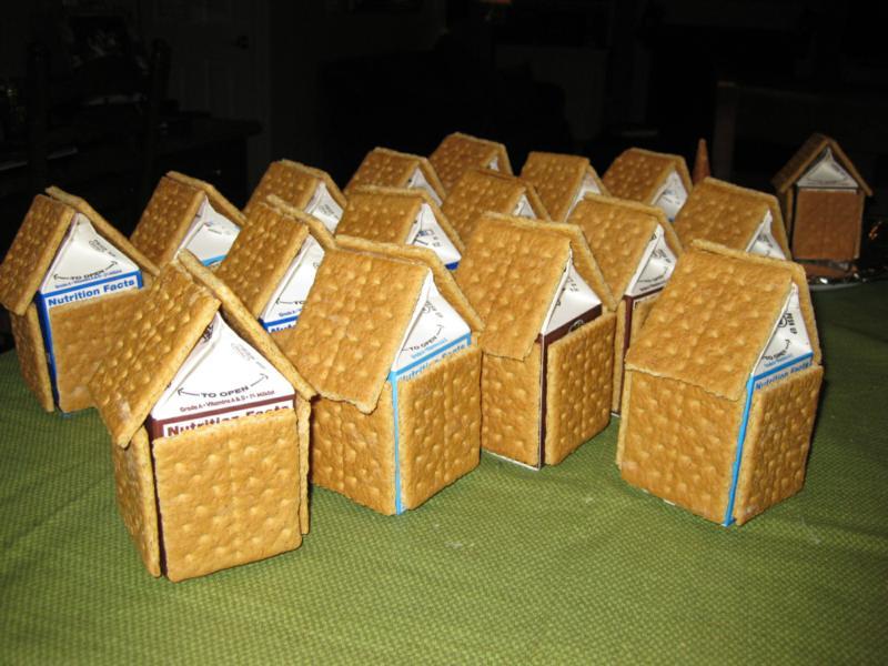 Gingerbred House Milk Carton