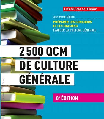 2500 QCM de culture générale pdf