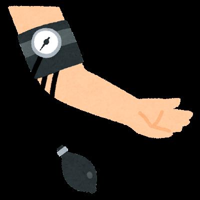 アネロイド血圧計のイラスト