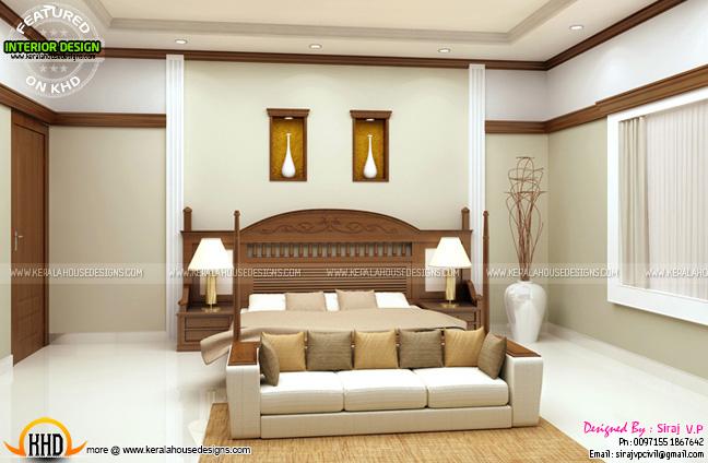kerala style master bedroom design memsaheb net - Interior House Designs In Kerala