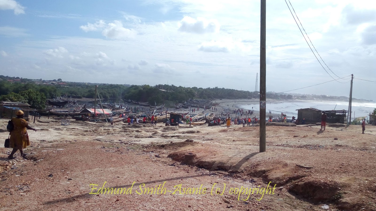 The Teshie Sangonaa Landing Beach From A Distance