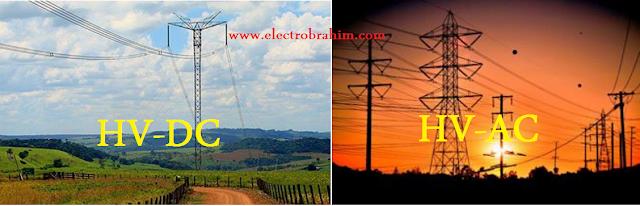 مقارنة بين نقل الكهرباء باستخدام الـــ HV-AC باستخدام HV-DC العيوب والمميزات