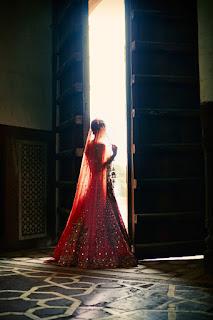 Red Designer Ghagra Choli (6).jpg