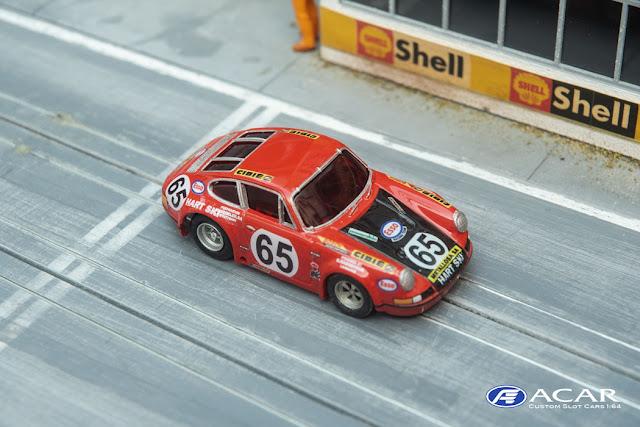 Slotcar Porsche 911S Le Mans 1970