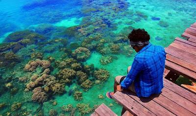 foto terumbu karang di pulau tidung