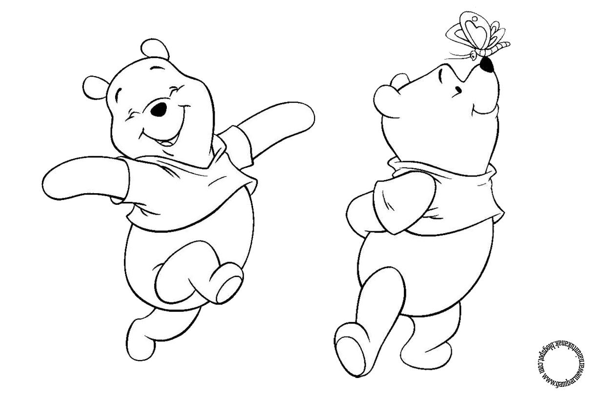 Gambar Mewarnai Winnie The Pooh Untuk Anak