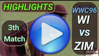 WI vs ZIM 3rd Match