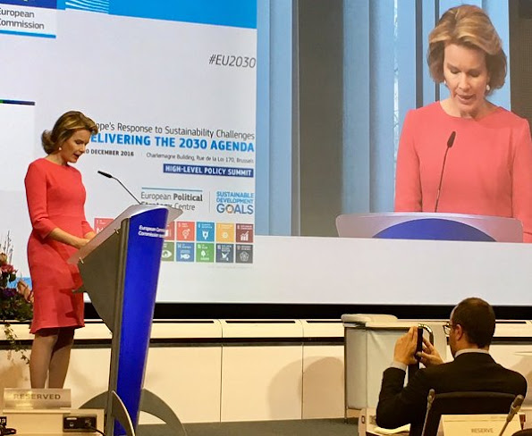 Queen Mathilde opens Europe's Response to Sustainability Challenges Conference at the Charlemagne building