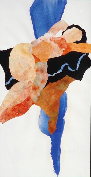 Figure on Blue - Painting -  Rosemary Marchetta