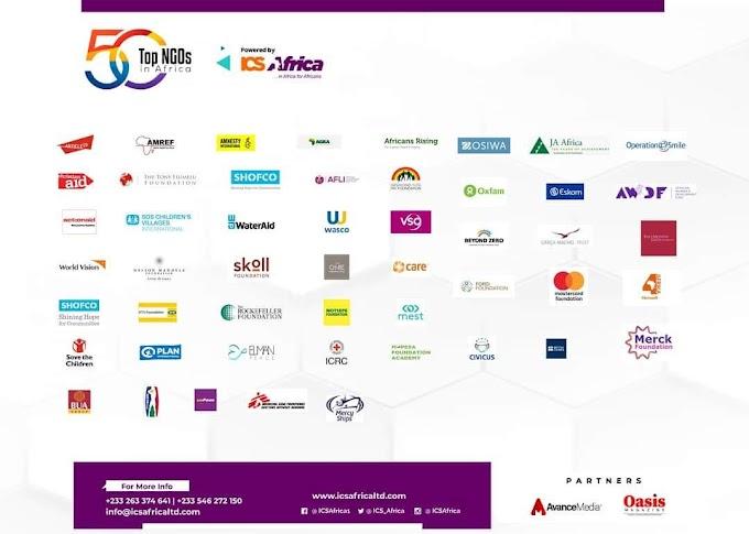 ICS Africa announces 2020 Top 50 NGOs in Africa