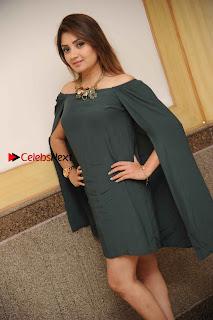 Kannada Actress Karunya Ram Stills in Strapless Green Short Dress at Eradu Kanasu Movie Press Meet  0010.jpg