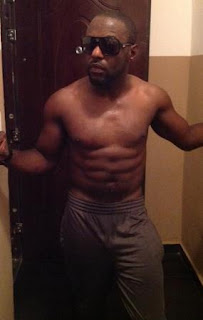 jim iyke six packs abs