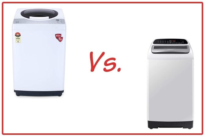 IFB REWH (left) and Samsung WA65T4262GG/TL (right) Washing Machine Comparison.